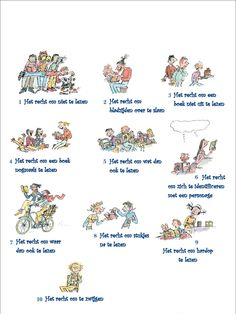 De 10 rechten van de lezer. Learn Dutch, Slogan, Books To Read, Place Card Holders, Classroom, Teacher, Train, Writing, Education