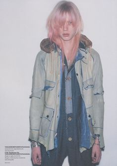 Takahiro Miyashita - Number (N)ine, The Soloist World Of Fashion, Fashion Brands, Denim Fashion, Fashion Outfits, The Soloist, Mode Jeans, Look Cool, Refashion, Military Jacket