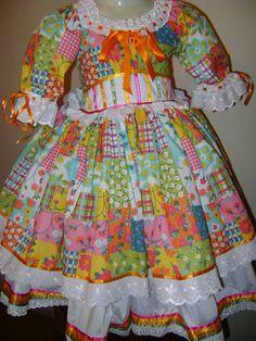 vestido caipira festa junina amarelo - Pesquisa Google