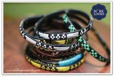 M*RK Looks:Beautiful Afrique,Manzini - African traditional bangles  #bangles #fashion #accessories