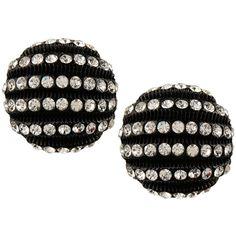 Jewellians Earrings ($145) ❤ liked on Polyvore featuring jewelry, earrings, black, black earrings, plastic earrings, black vintage jewelry, vintage jewellery and vintage plastic jewelry