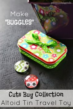 Pebbles & Piggytails: Altoid Tin Reuse Bug Craft Toy; could also add magnets or tacks for use on the fridge, file cabinet or bulletin board. Could add velcro too for a game or some other purpose. A portable chinese checkers game??