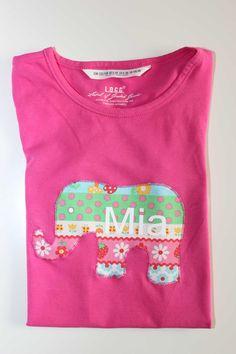 Dieses schöne T-Shirt für Kinder geht heute nach Wien. Viel Spaß beim Verschenken. Mehr unter www.karobluemchen.blogspot.de
