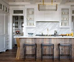 wood, white and marble