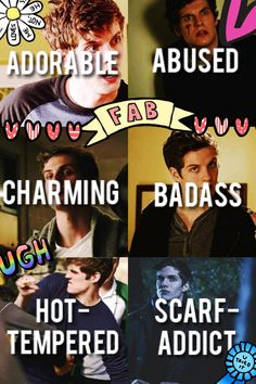 Isaac lahey (pics not mine, collage mine)