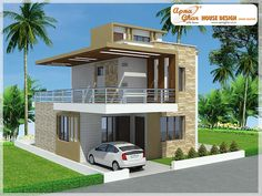 Modern Duplex House Design in 126m2 (9m X 14m)  Like, share, comment. click this link to view more details - http://www.apnaghar.co.in/search-results.aspx