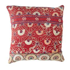 Cherry Peacock Border Cushion - Walter G - on Temple & Webster today.