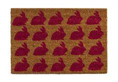 Pink bunnies doormat ($17) | POPSUGAR Home