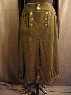 breeches mens 18th Century green wool