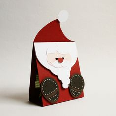 "mini christmas gift bag ""santa claus"""