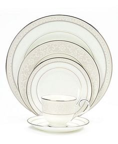Noritake Montvale Platinum Dinnerware Collection - Fine China - Dining & Entertaining - Macys