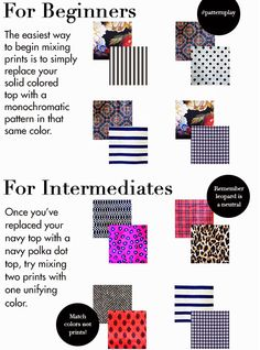16 Clothing Charts Every Girl Should See Fabric Patterns, Clothing Patterns, Print Patterns, Fashion Mode, Fashion Tips, Fashion Vocabulary, Mixing Prints, Couture, Pattern Fashion