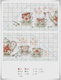 Lavores da Ana Paula: Toalha de Chá