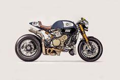 8negro: Ducati Panigale R Cafe Racer 'The Blue Shark':: Du...