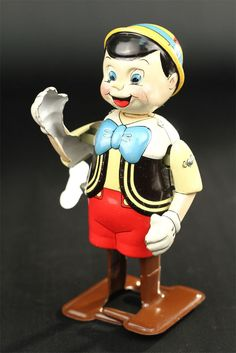 Vintage LineMar Marx Tin Windup Pinocchio Walker Disney