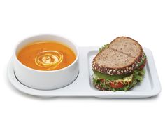 Love this combo!    SOUP AND SANDWICH CERAMIC TRAY DUO