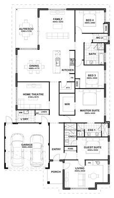 Multi Generational Homes New House Plans, Dream House Plans, House Floor Plans, My Dream Home, Home Design Floor Plans, Plan Design, Shipping Container House Plans, Floor Layout, House Blueprints