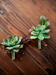 I love succulents! What an awesome way to use it in personal florals. This boutonnière looks very masculine. Wedding Groom, Chic Wedding, Floral Wedding, Perfect Wedding, Wedding Flowers, Dream Wedding, Wedding Ideas, Groom Boutonniere, Boutonnieres