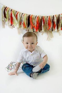 Woodland Animals Rag Tie Garland Woodland by LittleZebrasBoutique, $40.00
