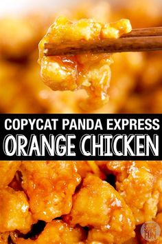 restaurant recipes This Panda Express Orange chicken tastes exactly like Panda Express! Youll love the sweet amp; spicy orange sauce and crispy chicken! Our large family can eat it anytime we want now with this easy Orange Chicken dinner recipe! Orange Chicken Copycat Recipe, Orange Chicken Sauce, Easy Orange Chicken, Chinese Orange Chicken, Asian Orange Sauce Recipe, Crockpot Orange Chicken, Orange Marmalade Chicken, Chicken Sauce Recipes, Gastronomia