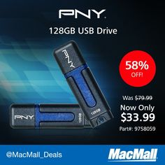 Too many #TBT photos to post? Share them with a 128GB #PNY USB drive on sale at MacMall. #DailyDeal