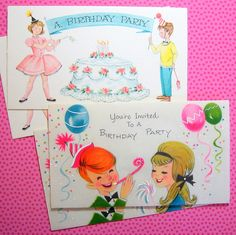 Vintage Birthday Invitations by breeleed, via Flickr