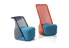 Cradle Lounge Chair by Moroso - furniture ID - Chair Design Design Furniture, Metal Furniture, Unique Furniture, Chair Design, Moroso Furniture, Furniture Market, Furniture Chairs, Upholstered Chairs, Furniture Ideas