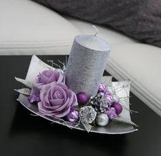 16 Espectaculares adornos navideños para la mesa usando velas ~ Belleza y Peinados