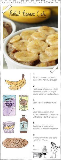 Baked Banana Cake via TheVeganStoner.blogspot.com // #banana #recipe #cake