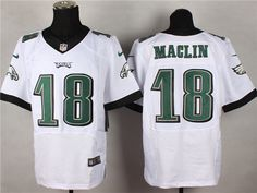 Men's NFL Philadelphia Eagles #18 Maclin White Elite Jersey