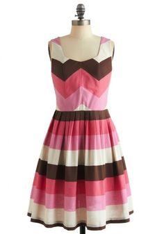 Modcloth Strolling Through Sunday Dress