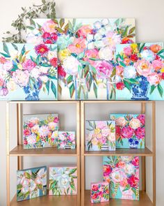 homedecor painting Acrylic floral paintings // wall art ideas // girly home decor // pink flower painting // colorful abstract artwork // Acrylic Painting Flowers, Abstract Flowers, Floral Paintings, Watercolor Painting, Mini Canvas Art, Cool Art, Awesome Art, Flower Art, Cactus Flower