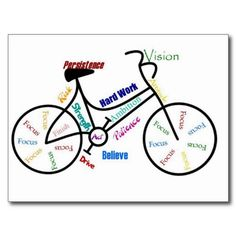 Motivational Bike, Bicycle, Cycling, Sport, Hobby Postcards from Zazzle.com