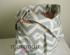 slate blue with red interior diaper bag