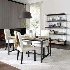 Table de salle à manger et étagère LONG ISLAND   Maisons du Monde