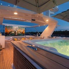 Film night on M/Y Dyna R it can be yours from 115000 per week this summer #yacht #yachts #yachting #yachtlife #yachtclub #yachtparty #yachtcharter #yachtinglife #superyacht #megayacht #sailing #boatsandhoes #boat #billionaireboysclub #billionaires #billionaire #lux #luxliving #luxuryhomes #luxurylifestyle #luxurytravel #luxurylife #millionaire #monaco #cannes #sttropez #movienight #sundayfunday by theyachtbrokerage