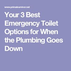 Your 3 Best Emergency Toilet Options for When the Plumbing Goes Down