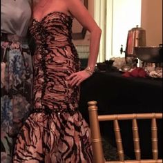 """Jovani strapless dress Wore for a hour to a friends wedding size 4 like new comes with scarf and strap hope to p""""p to save $ on frees Jovani Dresses Strapless"""