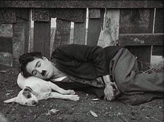 .Charlie Chaplin and friend
