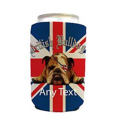 Customised #british bulldog design can cooler #/drinks neoprene #koozie beer hold,  View more on the LINK: 	http://www.zeppy.io/product/gb/2/252521182576/