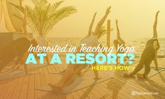 Lots of travel companies are popping up, offering people in the fitness world an opportunity to go teach at various resorts. Yoga Facts, Travel And Tourism, Travel Destinations, Travel Companies, Yoga Teacher Training, New Students, Mind Body Soul, Yoga Meditation, Teaching