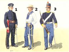 US Dragoons and Mounted Riflemen- 1-2nd Lieut, Regiment of Mounted Riflemen,1847; 2-Private, 1st Dragoons, California,1847; 3-Private, 1st Dragoons,1851