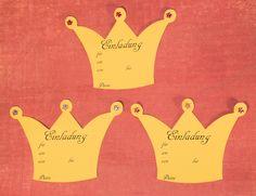 Kostenlose Einladungskarten zum selbst ausdrucken für den Geburtstag, z.B. Kindergeburtstag-Prinzessin
