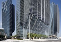 Image 1 of 31 from gallery of Sowwah Square / Goettsch Partners. Photograph by Lester Ali Abu Dhabi, Solar Shades, Aerial Images, Central Business District, Design Strategy, Global Market, East Africa, How To Level Ground, Sustainable Design
