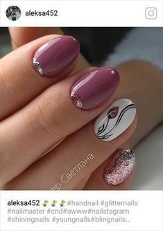 Ideas nails sencillas gelish for 2019 Tulip Nails, Flower Nails, Fancy Nails, Trendy Nails, Gel Nail Designs, Nails Design, Nagel Gel, Nail Decorations, Beautiful Nail Art
