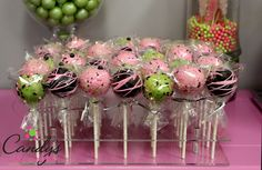 """42 Cake Pops with a reusable stand! . The stand measures 11""""L, 9.5""""W, 1.75""""H The clear acrylic color will match any event/candy buffet. Easy to clean and store. You will love it as much a we do! Must"""