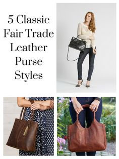 Who says fair trade can't be elegant?  Check out these 5 genuine, handcrafted leather purses that make you look stylish while allowing an artisan to make a strong living of hope and freedom in Ethiopia and India.