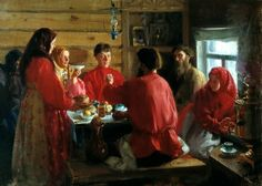 KULIKOV Ivan - In a farmhouse. 200 Russian painters • download painting • Gallerix.ru