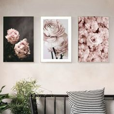 Modern Romantic Light Pink Peonies Flowers Canvas Paintings Gallery Posters Prints Wall Art Pictures Bedroom Interior Home Decor-in Painting & Calligraphy from Home & Garden on AliExpress - Day Canvas Poster, Canvas Artwork, Canvas Paintings, Artwork Wall, Flower Painting Canvas, Flower Canvas, Wall Art Decor, Wall Art Prints, Poster Prints