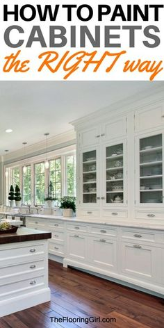 how to paint cabinets the right way - DIY cabinet painting. how to paint cabinets the right way - DIY cabinet painting. The best paints, tools and methods for painting kitchen cabinets. Diy Kitchen Decor, Kitchen Paint, New Kitchen, Home Decor, Kitchen Ideas, Kitchen Reno, Kitchen Backsplash, Decorating Kitchen, Kitchen Counters